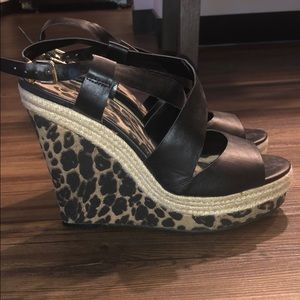 Jessica Simpson cheetah wedge heels